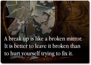 Broken Mirror Breakup Quote