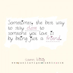Being Just A Friend