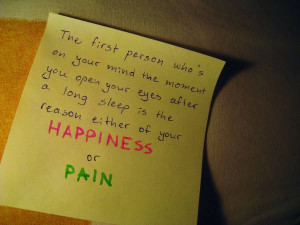 The First Person Who's On Your Mind the Moment You Open Eyes after a ...