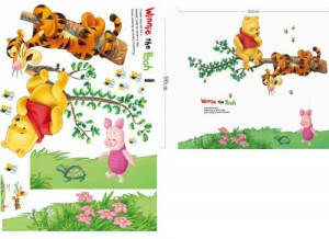 Ankin Winnie the Pooh Tiger Sitting on a Branch Wall Sticker and Decal ...