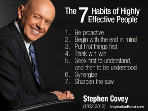 Stephen Covey. Books and quotes.