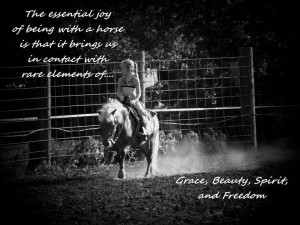 Horse quotes / little girl riding pony