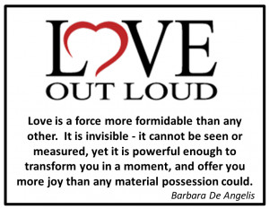 These ideas and suggestions were culled from Love Out Loud by Joyce ...