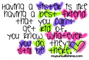 Thankful Thursday - My Big Sister is My Best Friend