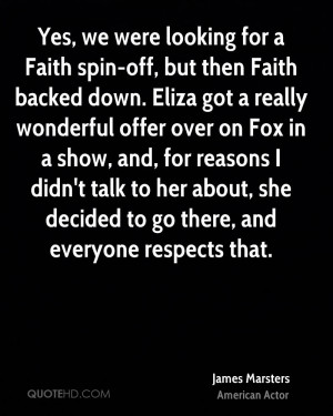 James Marsters Faith Quotes
