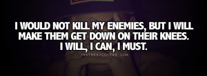 Click to get this i would not kill my enemies facebook cover photo