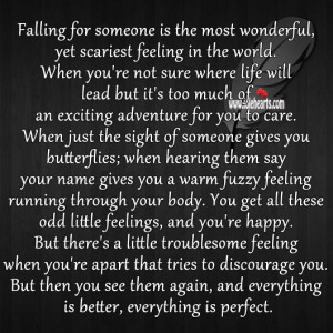 Falling For Someone Falling for someone is most