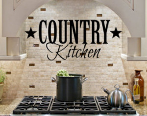 Country Kitchen vinyl wall letterin g art home decor Family Sticker ...
