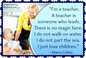 teacher. A teacher is someone who leads. There is no magic here ...