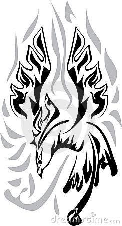 Mythical Phoenix Bird Poster