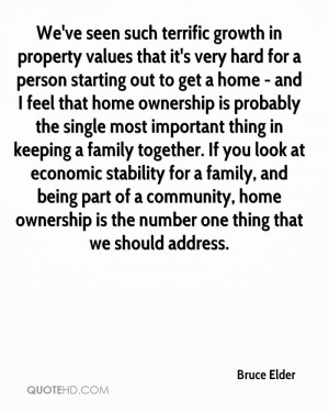person starting out to get a home - and I feel that home ownership ...