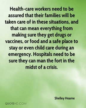 Shelley Hearne - Health-care workers need to be assured that their ...