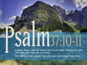 Psalm 37:10-11 – Peace And Prosperity Papel de Parede Imagem