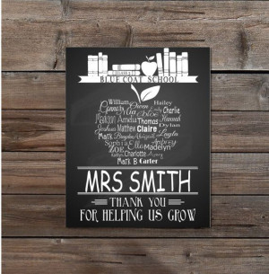 Teacher Gift Retirement Thank You Gift by TheArtyApples on Etsy, £10 ...