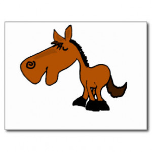 XX- Funny Horse Cartoon Postcard