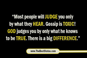 Most people will judge you only