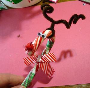 Candy Cane Reindeer Craft | Milk & Cuddles