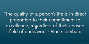 The Quality Of A Person's Life….