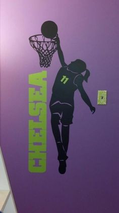 decal girls room wall girl lax personalized wall decal