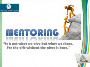 Mentoring at wheels india