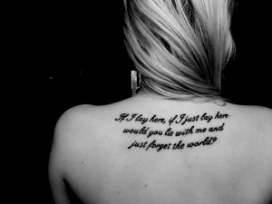 Shoulder quote tattoos8675
