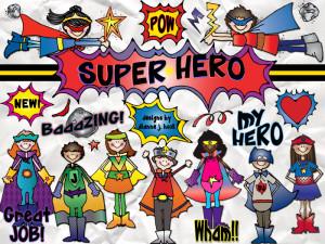 Superhero Clip Art for Classroom