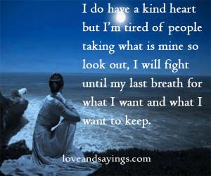 Will Fight Untile My Last Breath