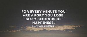 For every minute you are angry. Art Print