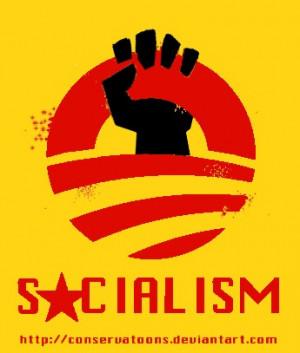 Pro Socialism Obama's pro socialist logo by