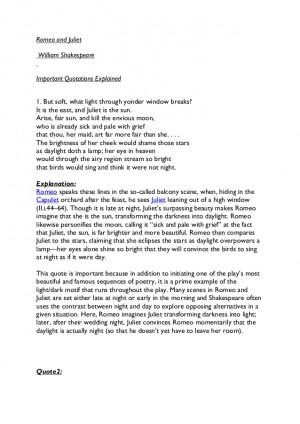 Romeo and juliet essay plan