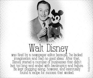 Walt Disney Famous Failure
