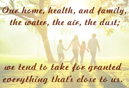 Things You Should Not Take for Granted