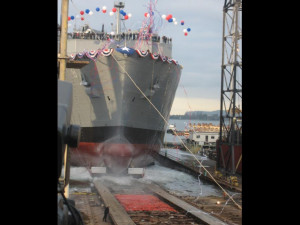Navy's new cargo ship Wally Schirra launched