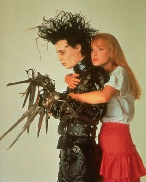 Previous Next Winona Ryder and Johnny Depp in Tim Burton's cult Edward ...