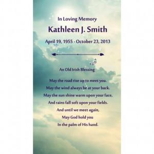 Until We Meet Again Poem For Funeral Irish Blessing Poem Urn