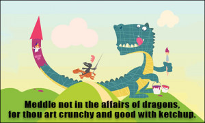 tolkien quotes about dragons