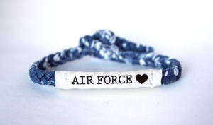Air Force Customizable Military Bracelet - Army, Navy, Soldier Wife ...