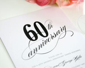 ... Wedding Anniversary Invitation - 60th Anniversary - Wedding