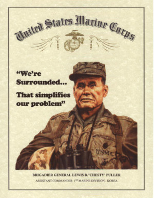 Chesty Puller Quote & Image