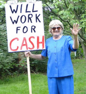 FRUMPY HILLARY IMPERSONATOR will be making a campaign appearance in ...