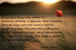 Pride quote by Charles Stanley.