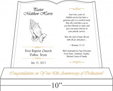 pastor appreciation day plaque 267 2 to our beloved pastor your forty ...