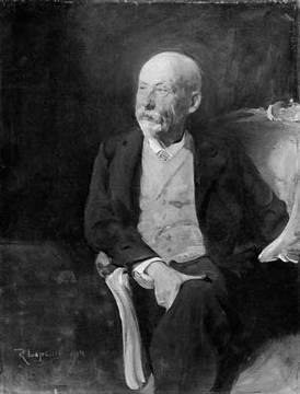 Wilhelm Dilthey Painting by Lepsius of artist Reinhold Lepsius
