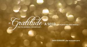 Monday Mornings: Gratitude