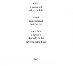 Than i remembered i am me