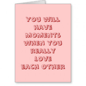 Funny Wedding Sayings Cards & More