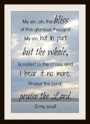 My favorite verse to my favorite hymn. Praise the Lord
