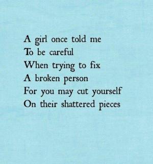 broken people sad quote