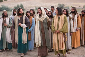jesus walking with disciples