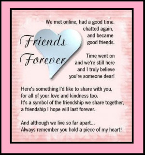 Greeting Card Of Friends Forever Printable